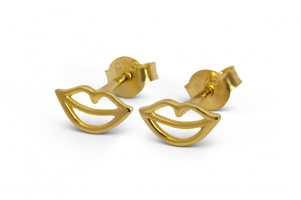 LULU secret earstuds small gold perspective pair