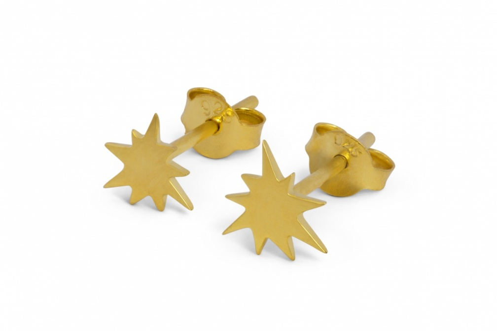 LULU kapow earstuds gold perspective pair