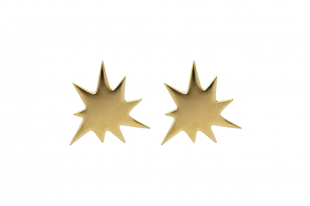 LULU kapow earstuds gold front pair
