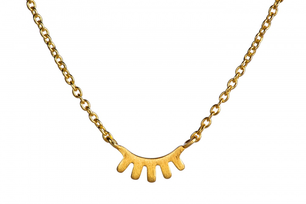 LULU Blink Necklace Pendant front gold matte