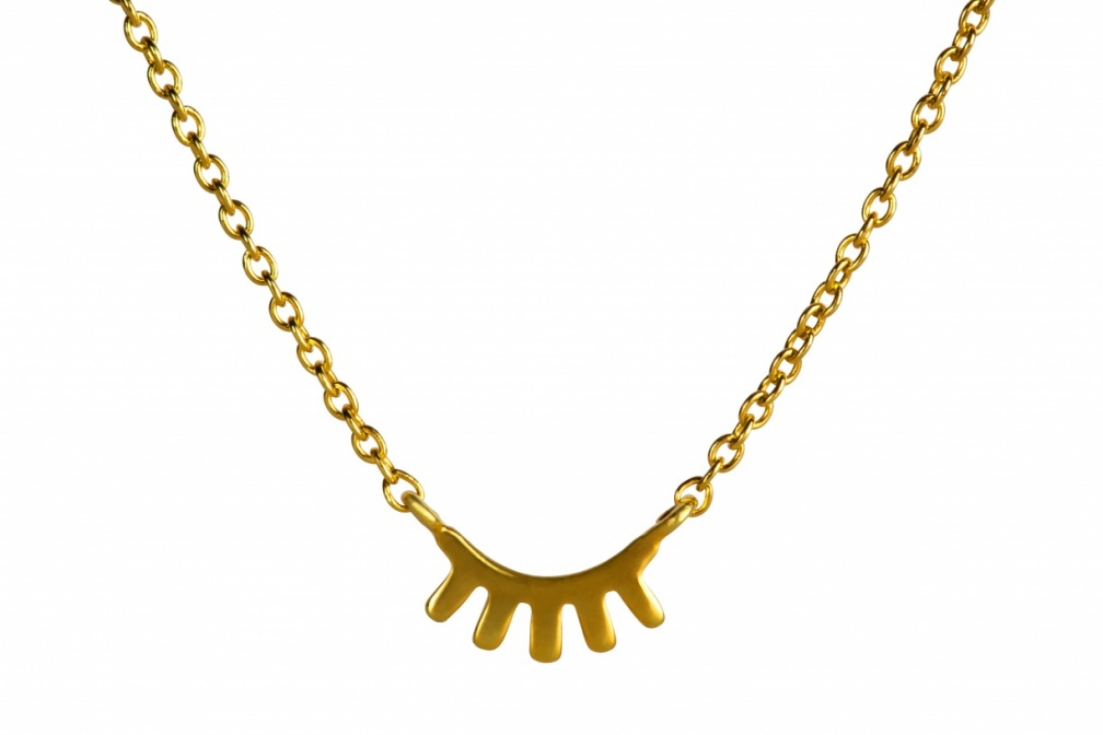 LULU Blink Necklace Pendant front gold shiny