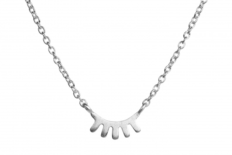 LULU Blink Necklace Pendant front silver matte