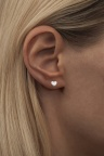 LULU Family Love Ear Silver Matte Small Heart