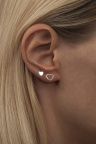 LULU Family Love Ear Silver shiny Big Small Heart
