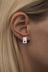 LULU Copenhagen Cut Out Star Earstuds Silver Ear