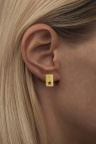 LULU Copenhagen Cut Out Star Earstuds Gold Ear