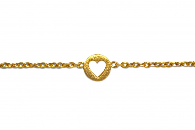 LULU BraceletStudio CutOutHeart Gold Close