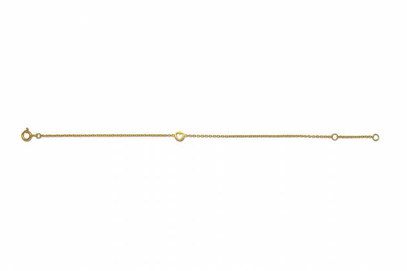 LULU BraceletStudio CutOutHeart Gold Long