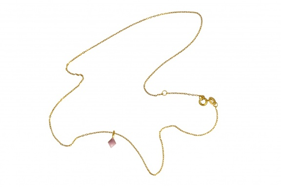 LULU Pendant Heaven Confetti pink gold shiny full chain