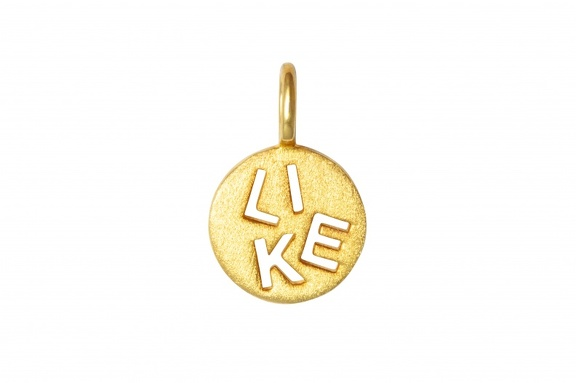 LULU Pendant Heaven Like gold brushed front