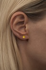 Natural stone gold yellow ear