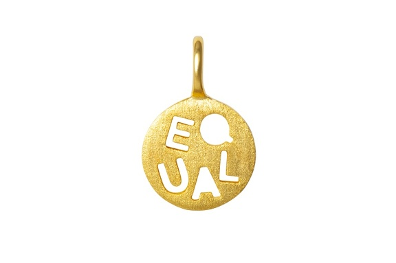 Pendent Equal gold front