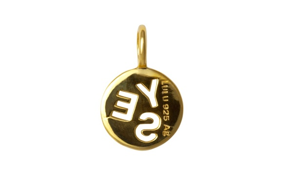 Pendent Yes gold backside