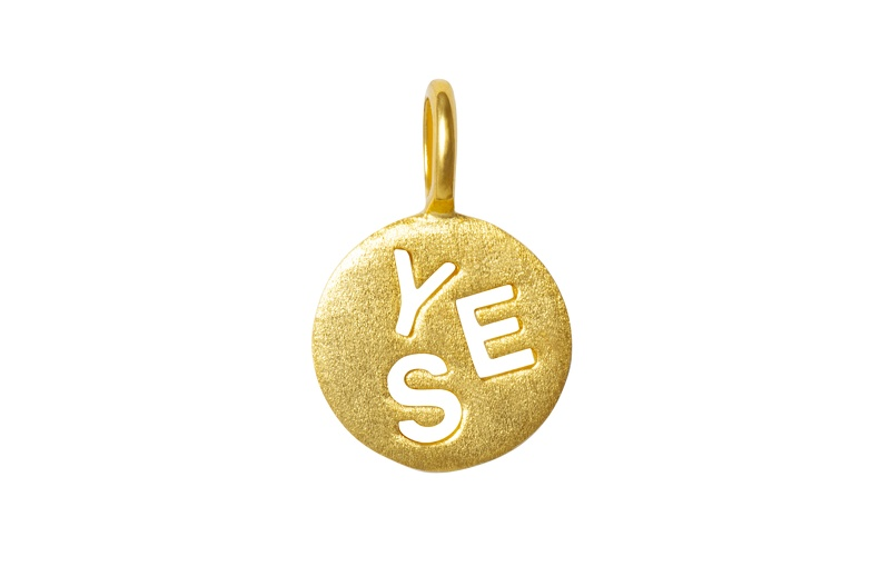 Pendent Yes gold front