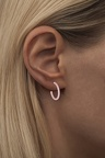color hoop medium light pink Ear