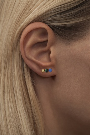triples gold green blue ear