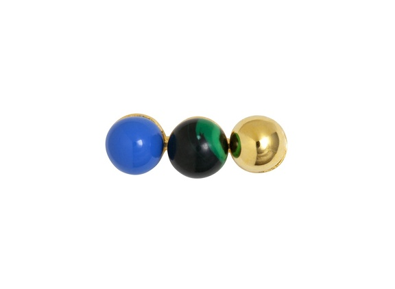 triples gold green blue front